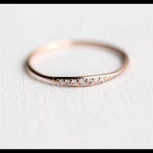 Dainty Rose Gold Stackable sz 6
